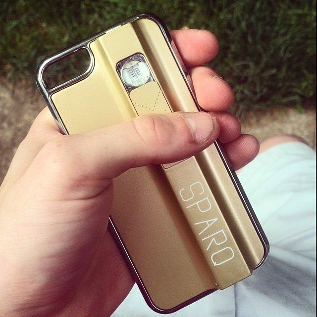 Unique Built-in USB Lighter Phone Case