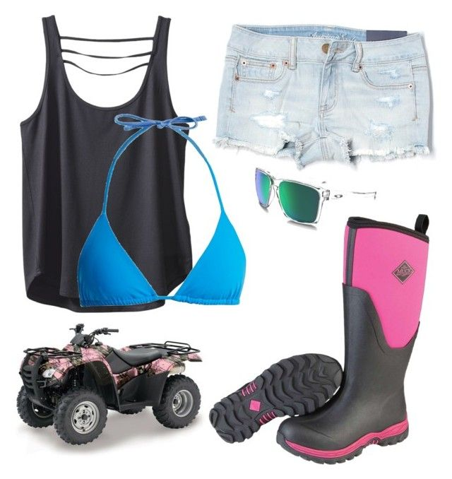 """""""Take me mudding 2.16.18"""" by mud-lovin-redneck ❤ liked on Polyvore featuring American Eagle Outfitters, Kavu, Mara Hoffman, Muck Boot Co. and Oakley"""