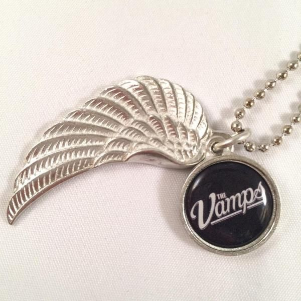 The Vamps - Team Vamps Pewter Wing Logo Necklace - TM Stores