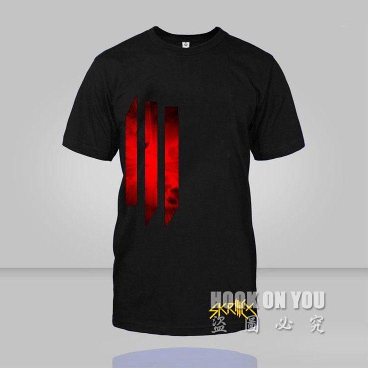 2016 DJ Glamor winner Skrillex Men T-Shirt super electronic artists super handsome Logo Black Short Sleeved T shirt #Affiliate