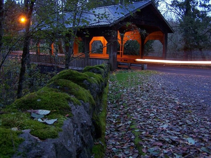 Covered Bridge aglow