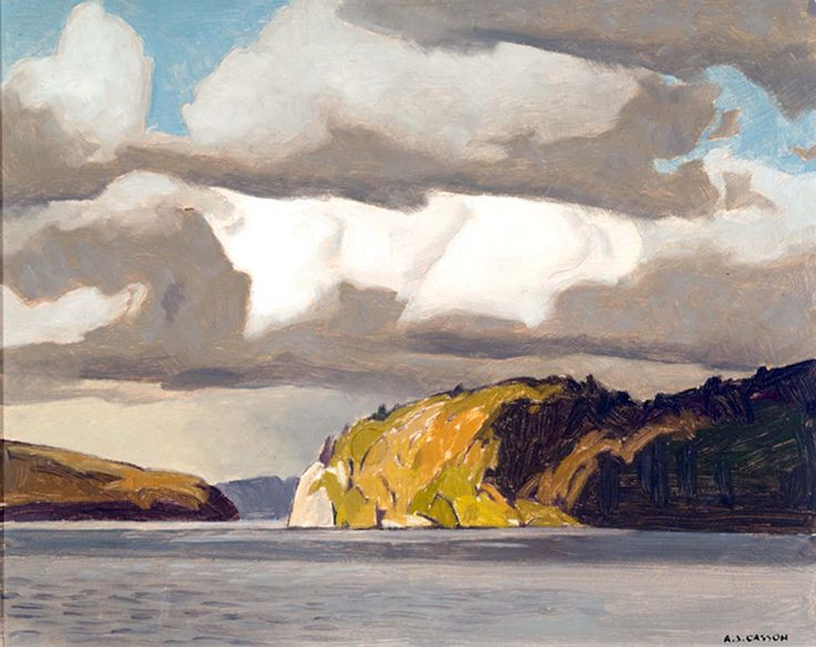 Alfred Joseph Casson, Storm Clouds, Lake of Bays. Group of Seven.