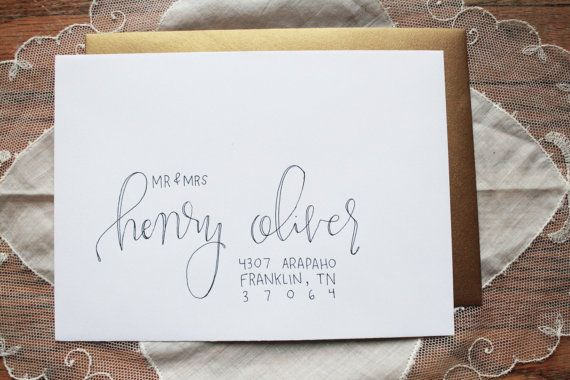 Henry style // Envelope Addressing services // Hand lettered