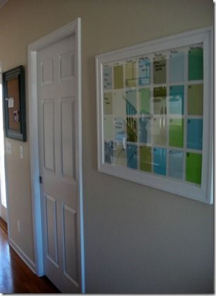 "I am so making this for my kitchen! Paint  chip calendar in ""whiteboard"" style"