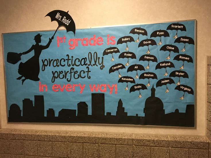 Mary Poppins welcome board