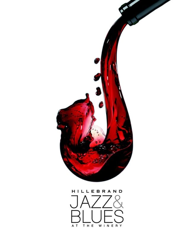 Hillebrand Wines Poster   wine + saxophone inspiration ad posters