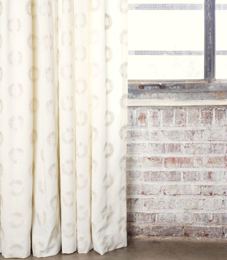 Nate berkus collection damen sparkle drapes in quartz for Nate berkus window treatments