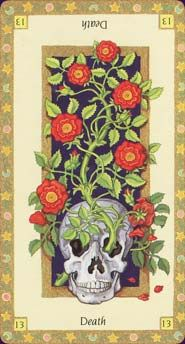 great art showing the positive atribute of the Death tarot card. the darkness before dawn.. #13 #persephone