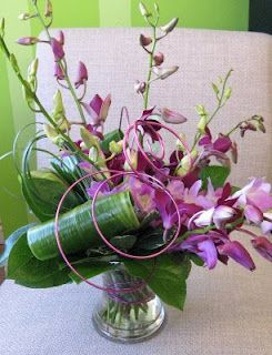 Orchids And Wire Purple Worcester Florists Sprout