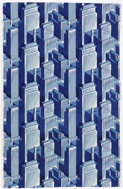 """Big City"" textile, 1960s"