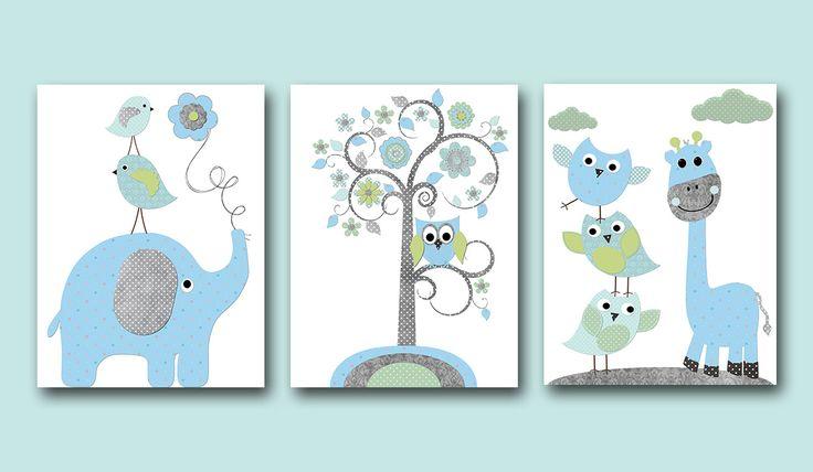 lot de 3 illustration pour enfant et bebe gar on d coration illustration pour chambre d 39 enfant. Black Bedroom Furniture Sets. Home Design Ideas