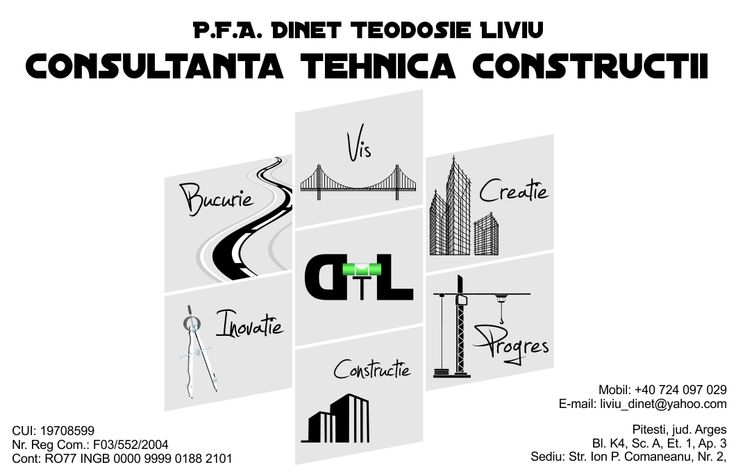 Carti de vizita - Dinet Liviu Engineer - Front - CoMas Advertising