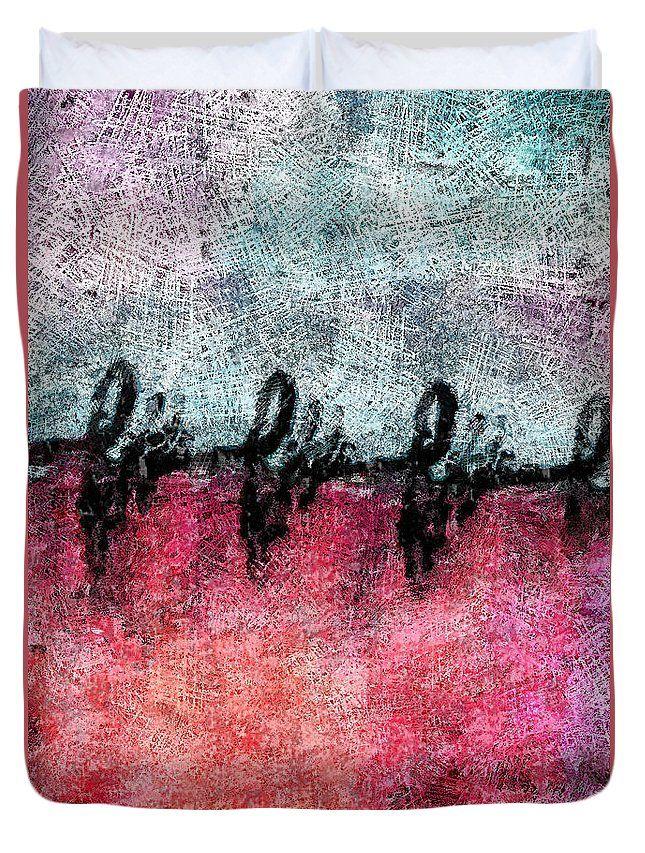 Abstract Duvet Cover featuring the digital art Heart Pulse by Riccardo Zullian