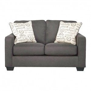 Contemporary Gray Sleeper Sofa Loveseat