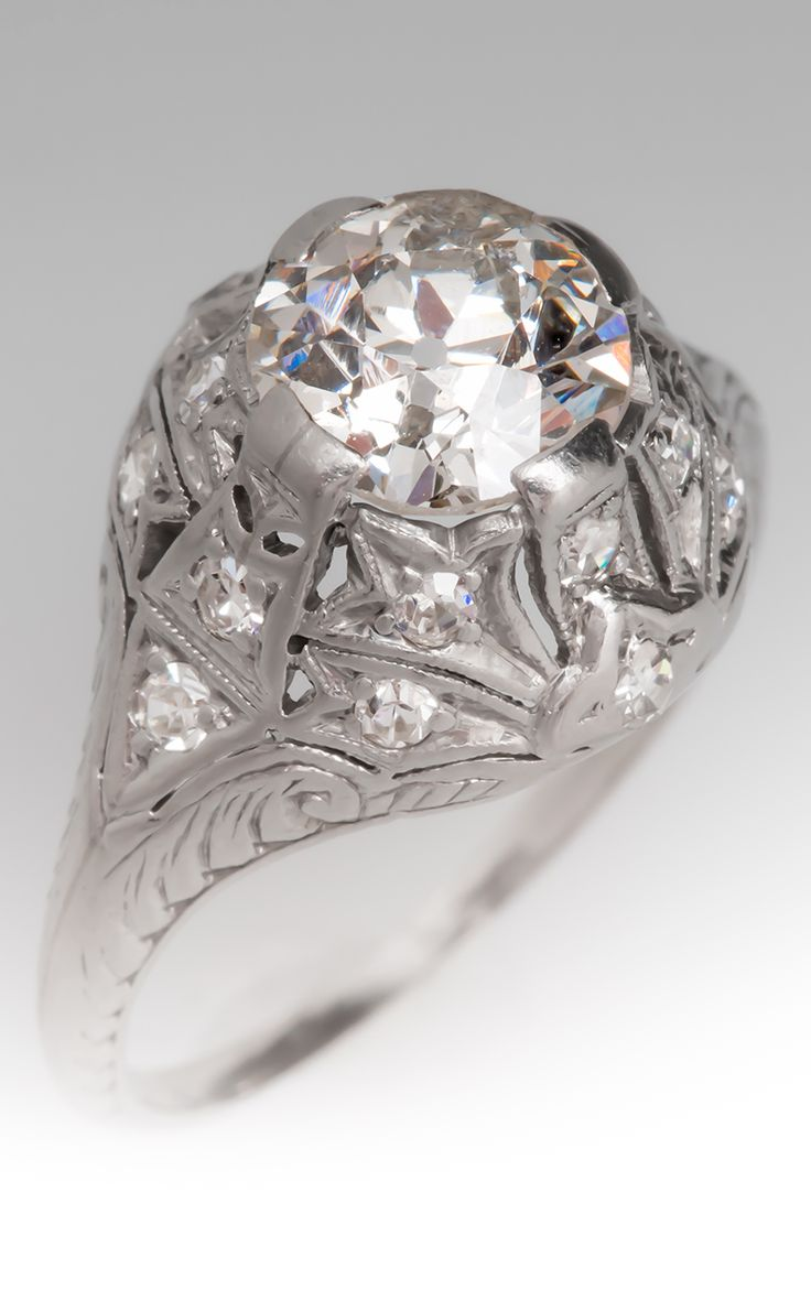 Art crafted engagement rings - 1920 S Antique Engagement Ring