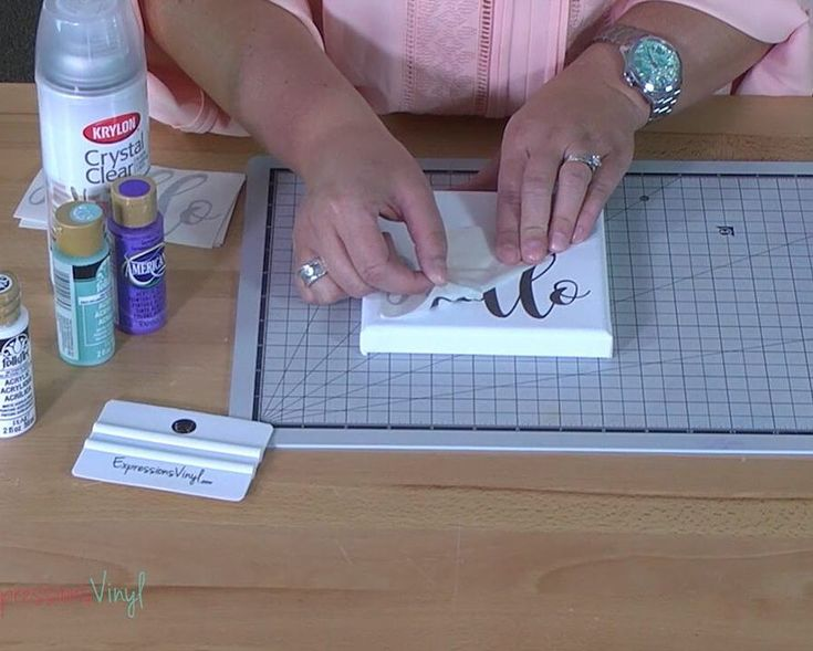 Have you ever tried to stick vinyl to a canvas with no luck? We have a super awesome vinyl hack to help you!! Head over to our blog to catch the play by play!