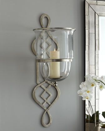 Candle sconces for the t.v. wall.