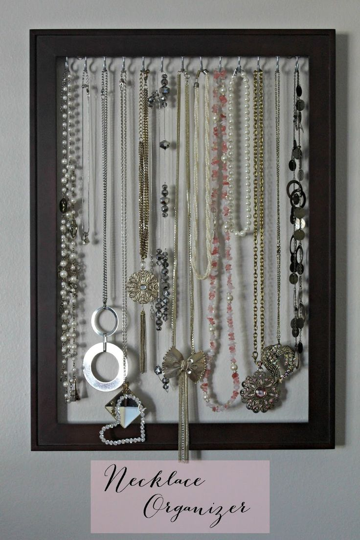 Best of Wardah: DIY Necklace Organizer/Frame