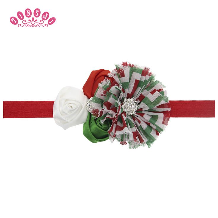 TINSAI Fashion Hair Bows Children's Christmas gifts elastic Hair band Little baby tire rope the roses Baby girl hair accessories