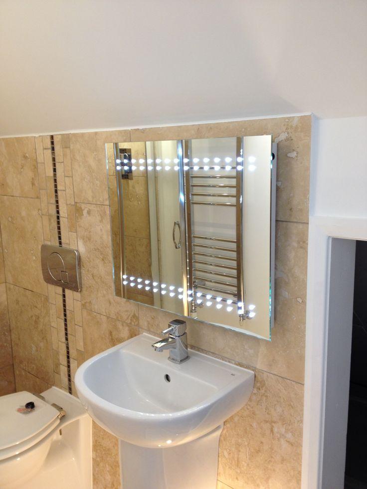 Loft conversion master bedroom en-suite with LED light/mirror/demister/shaver point......every bathroom needs one! #sdbtilingltd