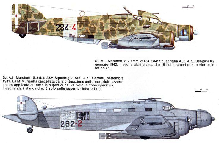 Savoia Marchetti SM 79 Sparviero silurante 1942 - Savoia Marchetti SM 84bis silurante 1941