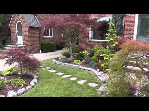 The Summer Garden - Japanese maple garden (Front yard and Bonsai) - YouTube