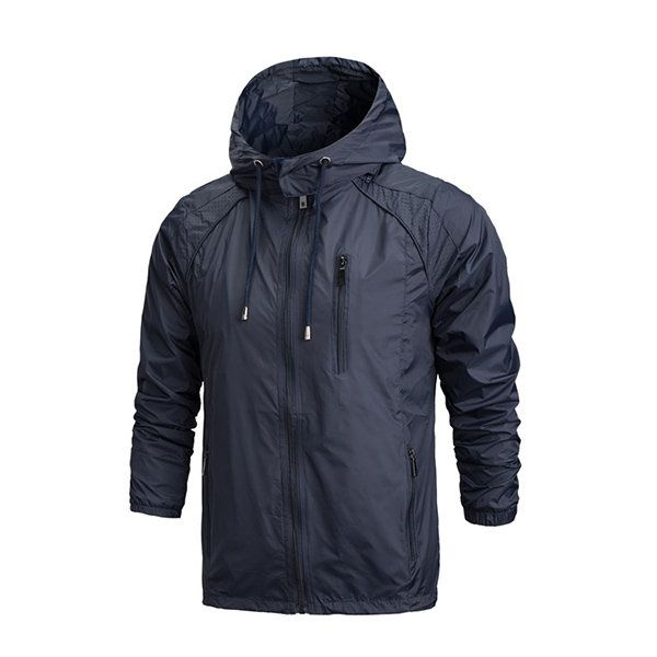 Mens Lightweight Hooded Windproof Water-repellent Quick Dry Casual Outdoor Jacket