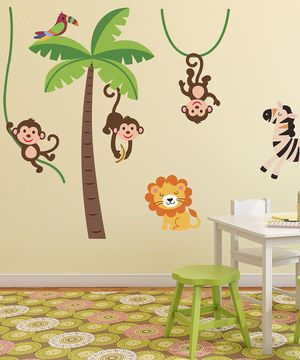 Jungle Wall Stickers Pack by Ambiance #zulily #zulilyfinds