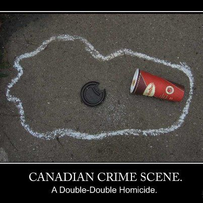 Haha lol!! For those of you who don't know a tim Hortons coffee with two creams and two sugars is called a double-double. XD