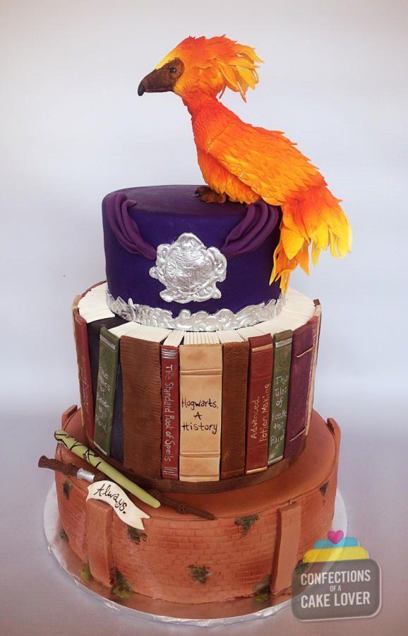 Harry Potter Hochzeitstorte! Insgesamt dauerte der Kuchen etwa 30 Stunden. Weiß …