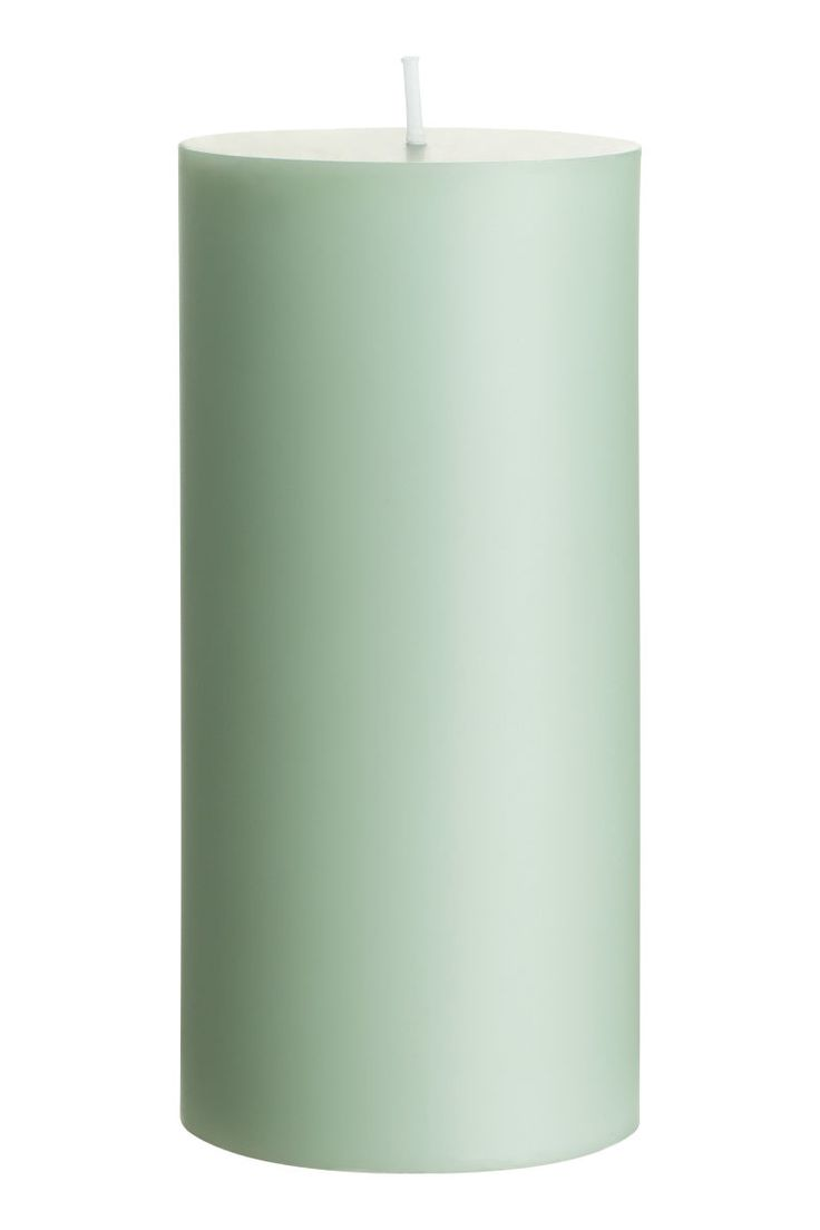 Large Pillar Candle | Dusky green | H&M HOME | H&M US