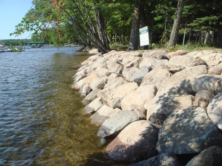 how to stop lake bank from eroding