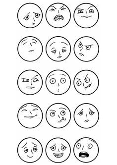 drawing simple cartoon faces - Google Search                                                                                                                                                                                 More