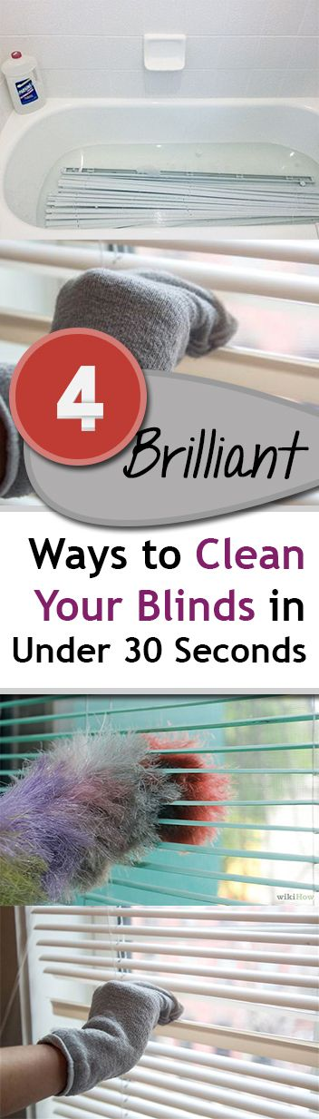You will love these quick and efficient tips to clean your blinds!