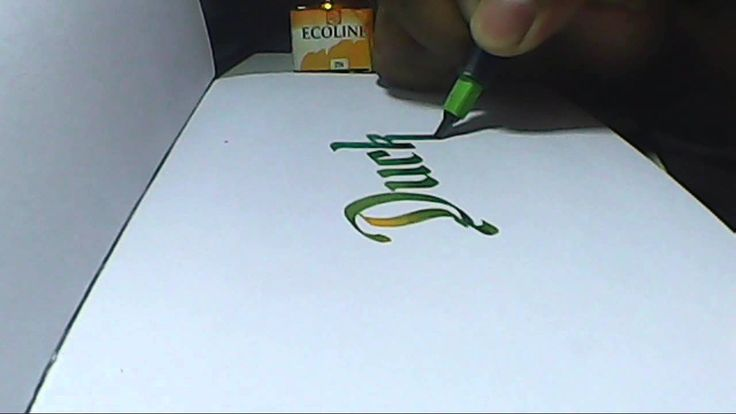 Duck | Hand lettering with pilot parallel pen 3.8mm