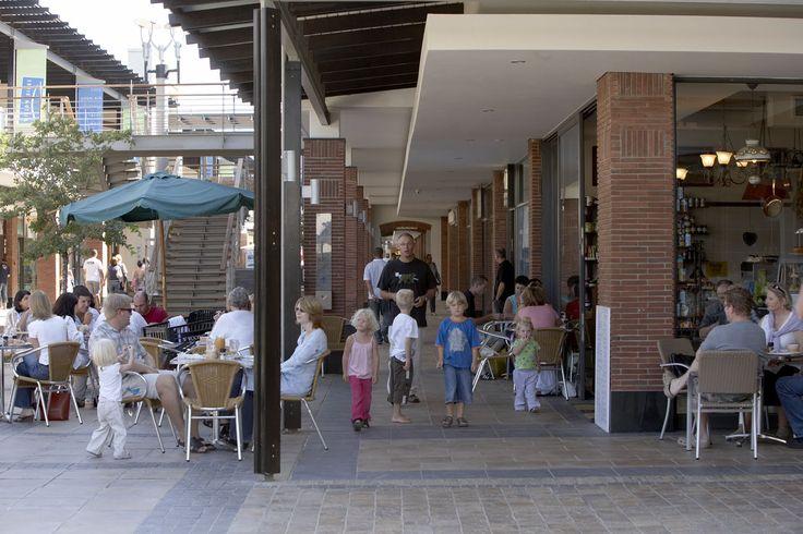 Open shopping centre.