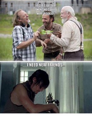 Daryl Dixon needs new friends!