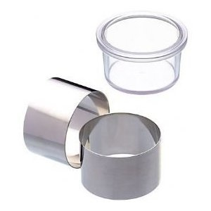 Master Class Cooking Rings with Pusher, Stainless Steel, Set of 2: Amazon.co.uk: Kitchen & Home