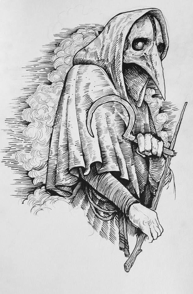Grindesign© Plague doctor #drawing #illustration