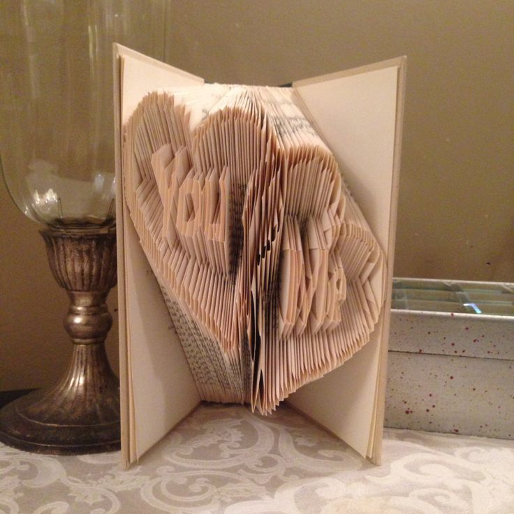 'You and Me' in 2 Hearts folded book art