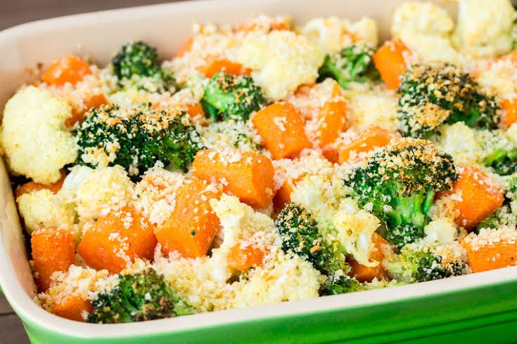 California Blend Vegetables With Parmesan Bread Crumbs Recipe