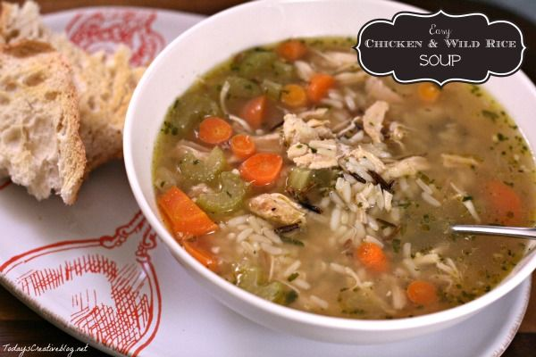 Easy Chicken soup recipe using Uncle Ben's Wild Rice. Super easy and super tasty.  Get the recipe on TodaysCreativeLife.com