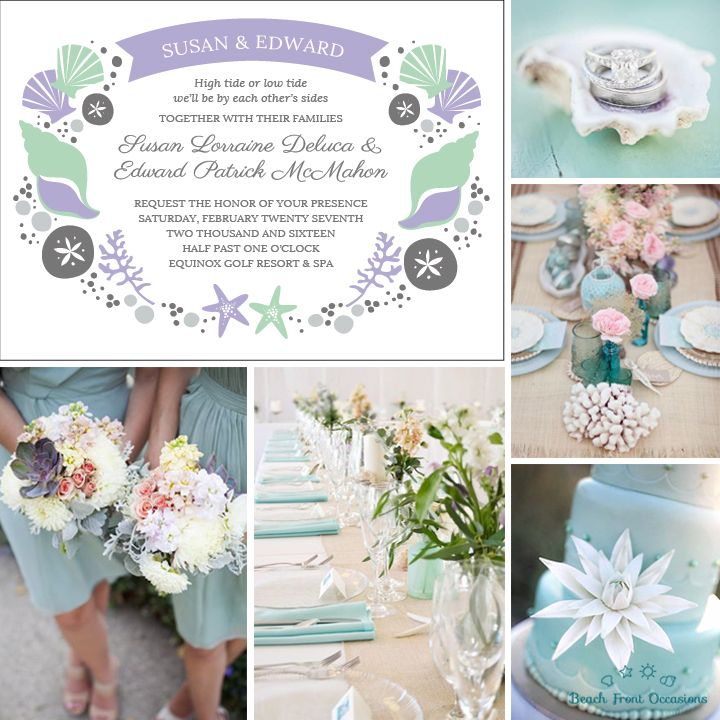 Seashell Dream Pastel Beach Wedding Inspiration Board