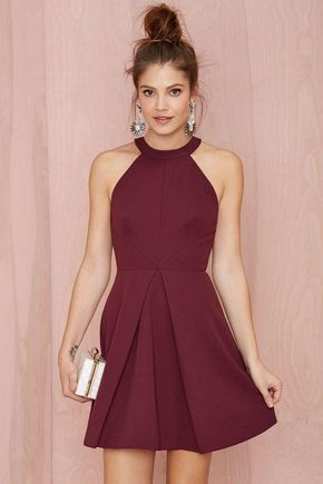 Junior Dresses Online 2015 Short Beach Party Dresses A Line Halter Mini Satin Semi Formal Dress Girl Dress Custom Made Special Occasion Dresses Homecoming Gowns White Party Dresses From Lynbridal, $58.64| Dhgate.Com