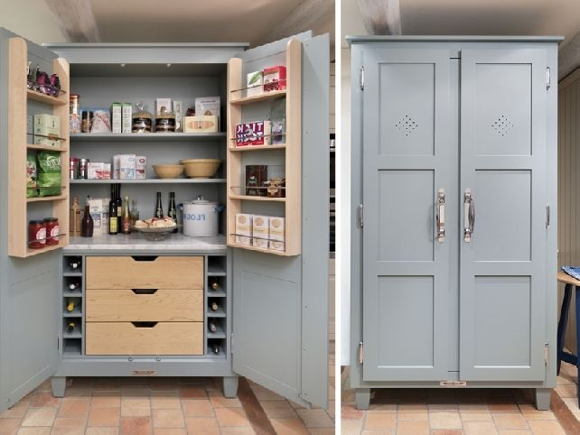 freestanding pantry cabinet wood unfinished : Cabinet Design Ideas