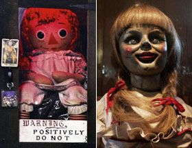 The doll is based on a separate case from 1970 that paranormal investigators Ed and Lorraine Warren handled, the case of the Annabelle doll.