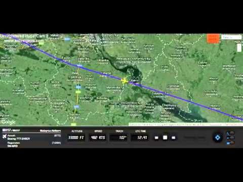 Malaysia Airlines flight MH17 playback on Flightradar24 - YouTube