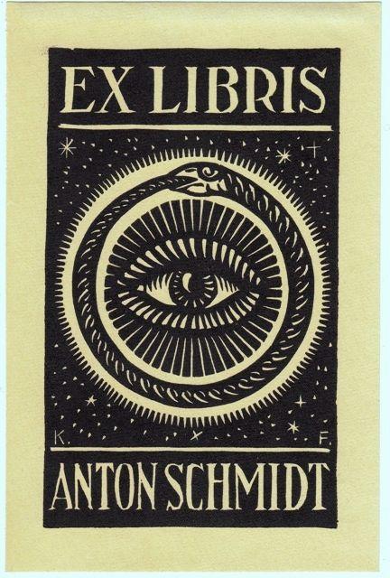 Exlibris by Karl Frech 1920