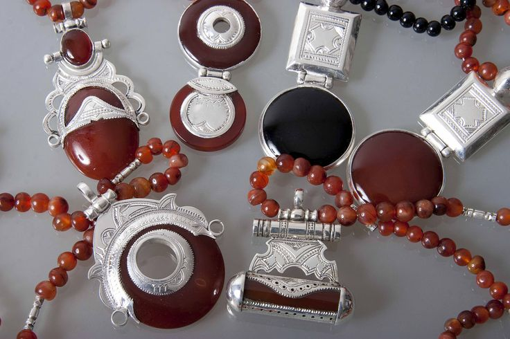 Really lovely sterling silver new production Tuareg agate pendants and necklaces order from UK from http://mohamedahnou.weebly.com