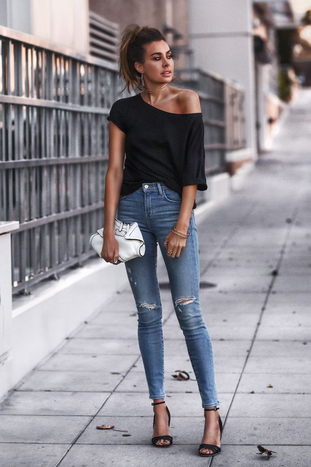 bd9908b9543 30 Casual Summer Outfits With Jeans To Copy This Year